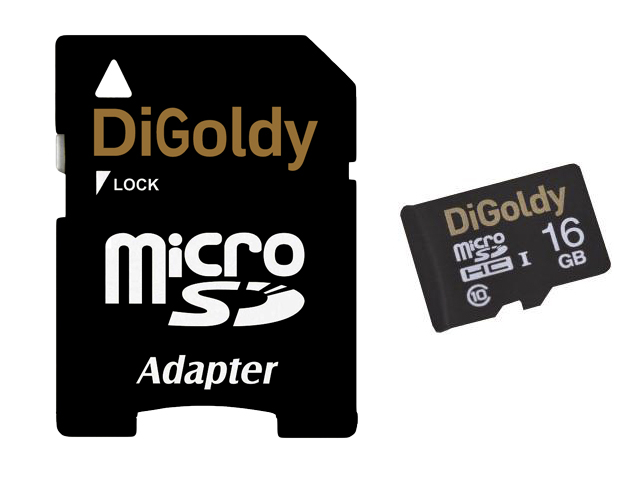 Flash Digoldy SD 16 Gb Micro Class10 с адаптеромSD в Мегамаркете BSF