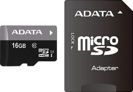 Flash A-DATA SD 16 Gb Micro Class10Premier UHS-I в Мегамаркете BSF